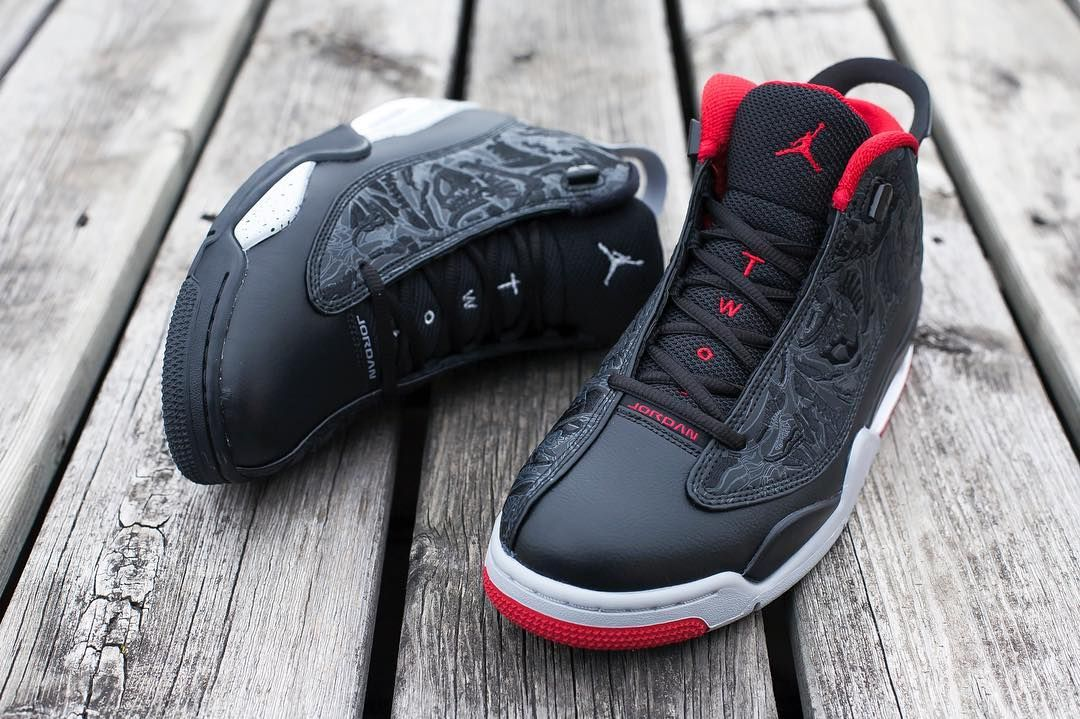 "buy popular fbcc7 ea163 The Dub Zero highlights the Air Jordan 12 s ""TWO 3""on the tongue."