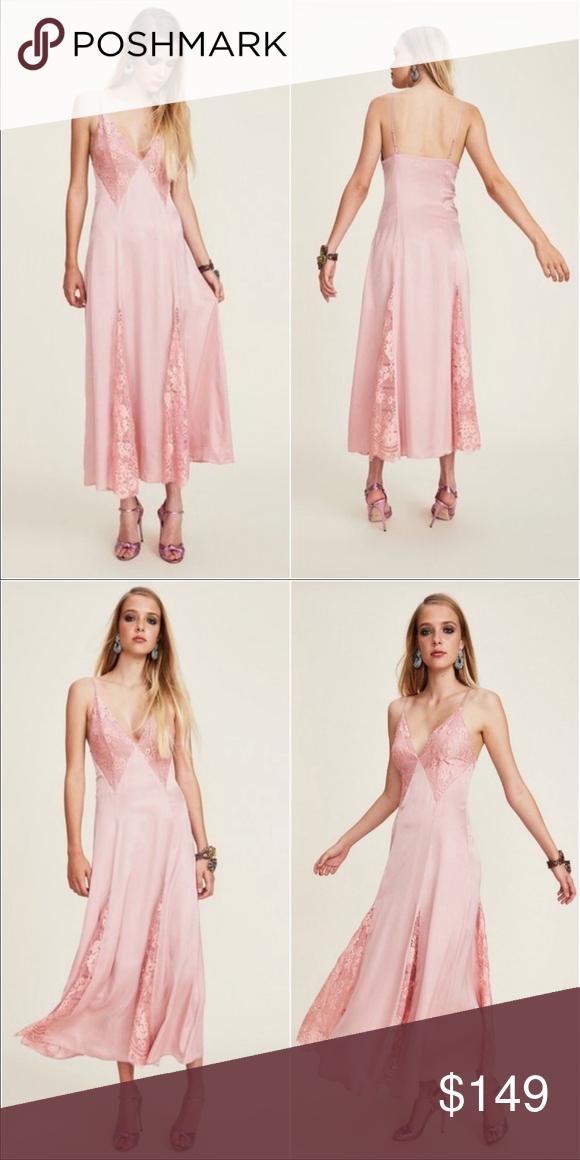 Lpa Dress 65 Cupro Satin Maxi Dress Xl Cupro Satin Slip Dress With Contrast Lace Detail Has Some Light Marks From Bei Dresses Lace Slip Dress Satin Maxi Dress