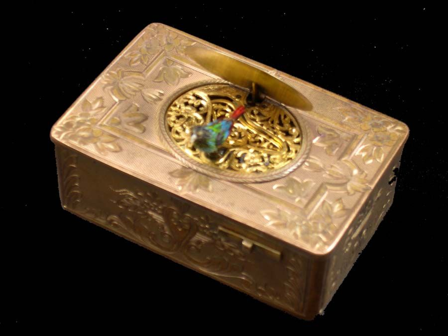 Singing Bird Box Automaton - French  late 1800s/early 1900s