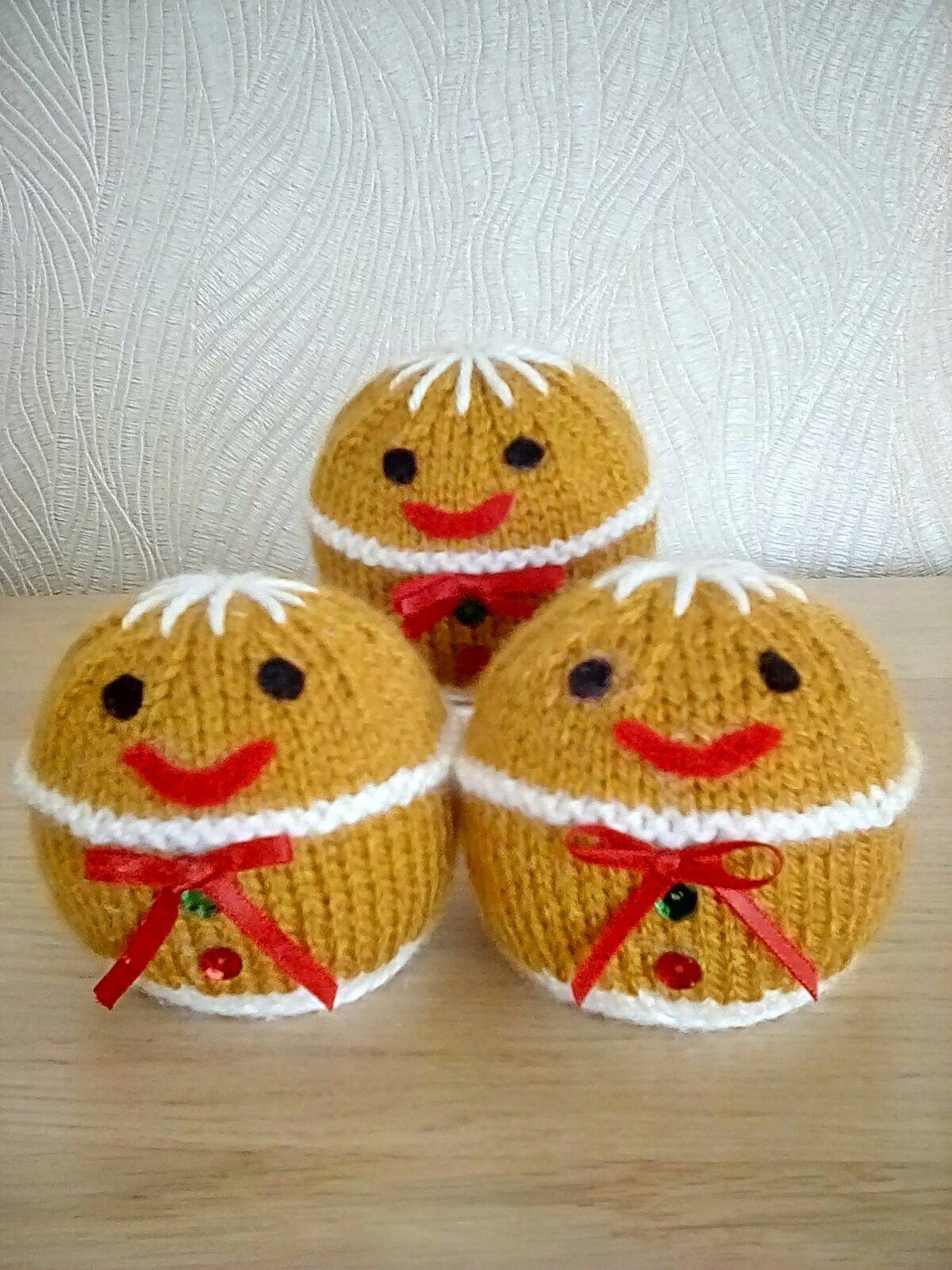 Knitting pattern Gingerbread Man Ferrero Rocher cover