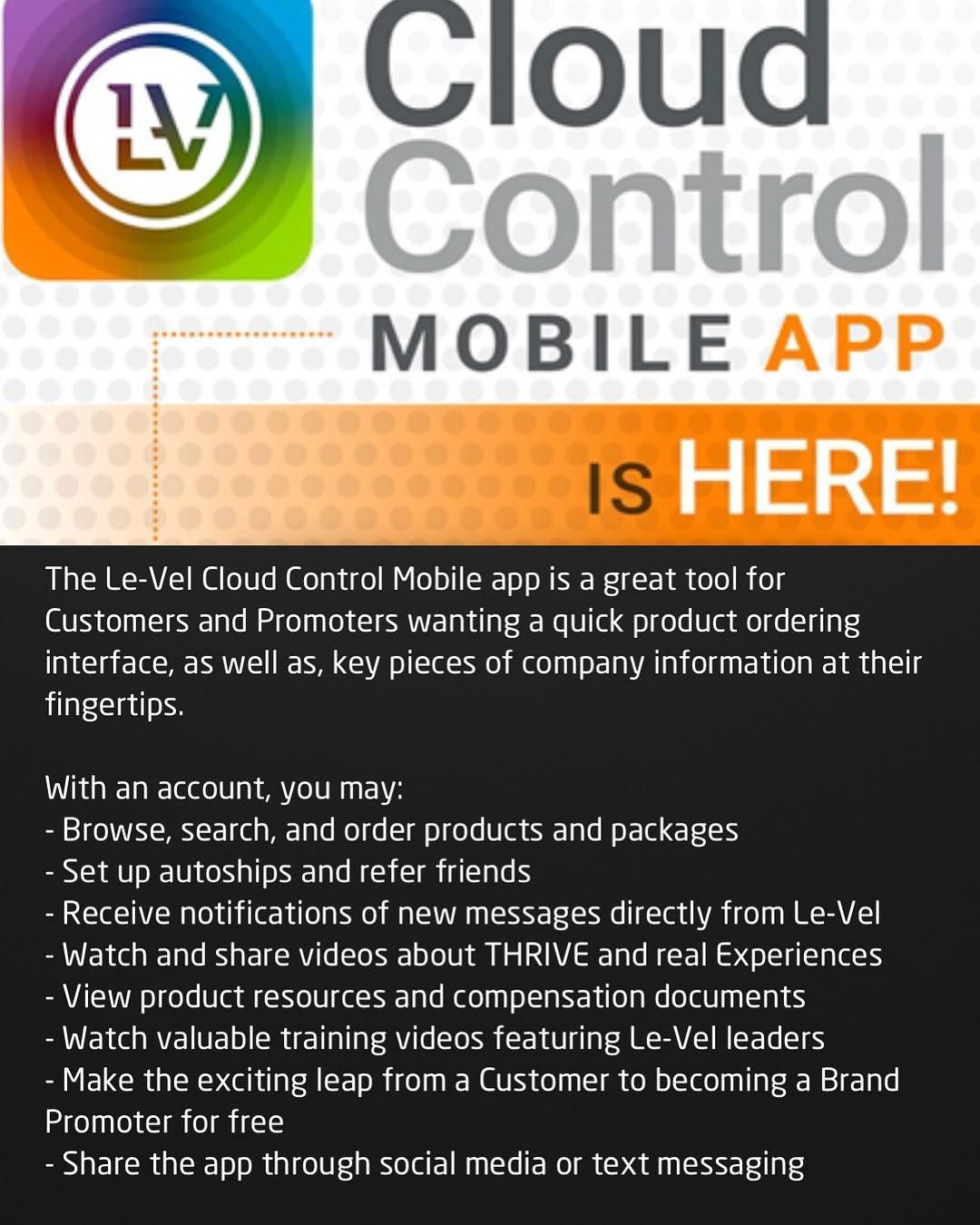 Le-vels new Cloud Control App is here and its #Free You can