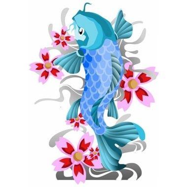 tatuajepezkoiazulyfloresjpg 380380 pixeles  El mo de