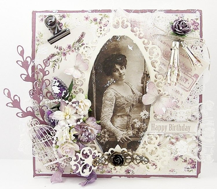 Lavender Birthday, the Scent of Lavender collection and vintage image from Grandma's Attic - Ladies