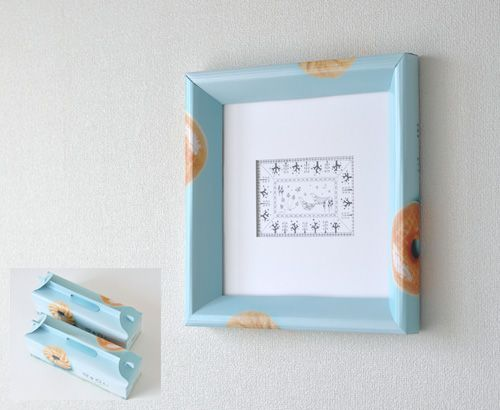 Make a cardboard frame from a recycled box. | Crafts - Made from ...
