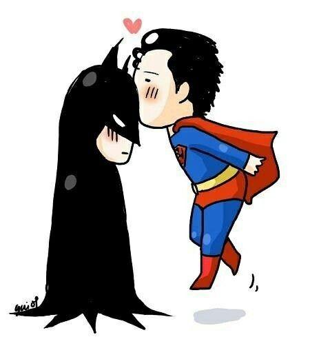 Superman Batman Kiss Batman Batman And Superman Superman Love