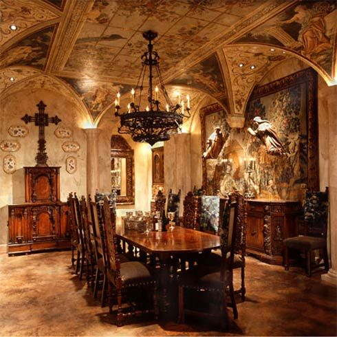 Italian Renaissance dining room designed by Nancy Anderson Ross