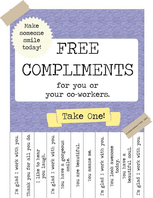 Free Compliments Poster : BreakroomEdition | Flickr - Photo Sharing!
