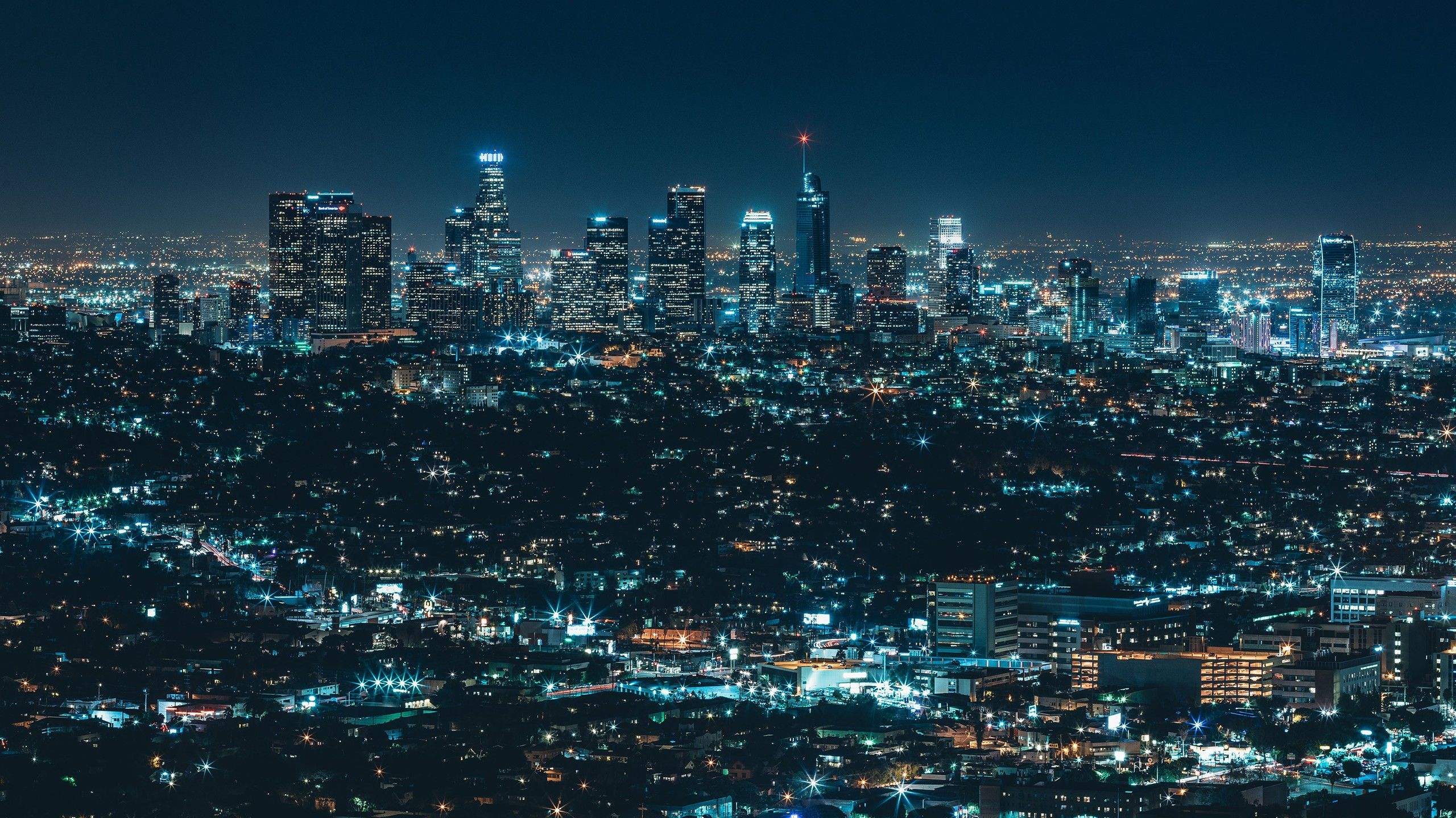 Los Angeles Nightscape Photo Credit To Thomas Frejek 2560 X 1440 4k Desktop Wallpapers City Wallpaper Desktop Wallpapers Backgrounds