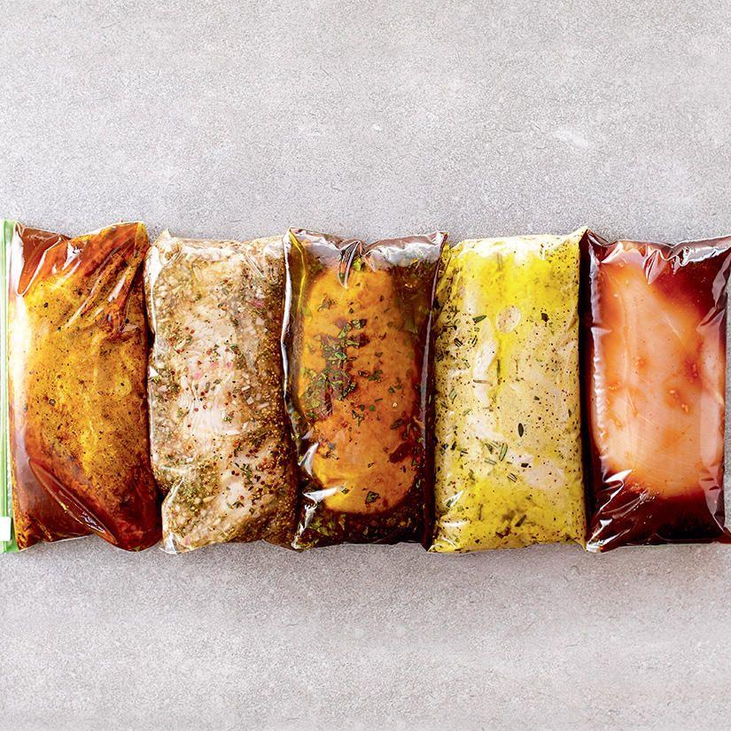 5 marinades pour nos grillades d'été 5 marinades pour nos grillades d'été—Ces marinades savoureuses se prêtent à toutes les sortes de grillades. Il ne reste qu'à allumer le barbecue et en profiter tout l'été!