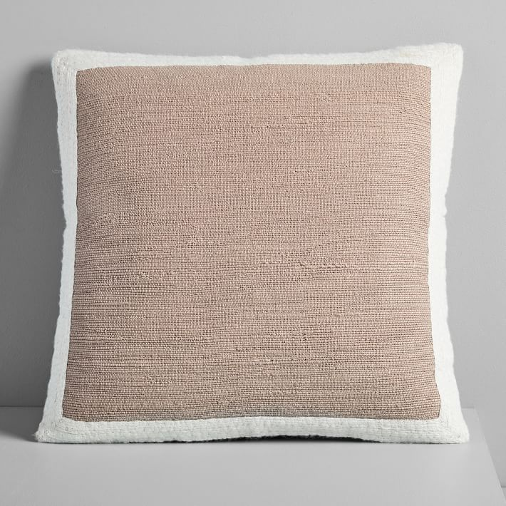 Textured Border Pillow Covers | Pillow