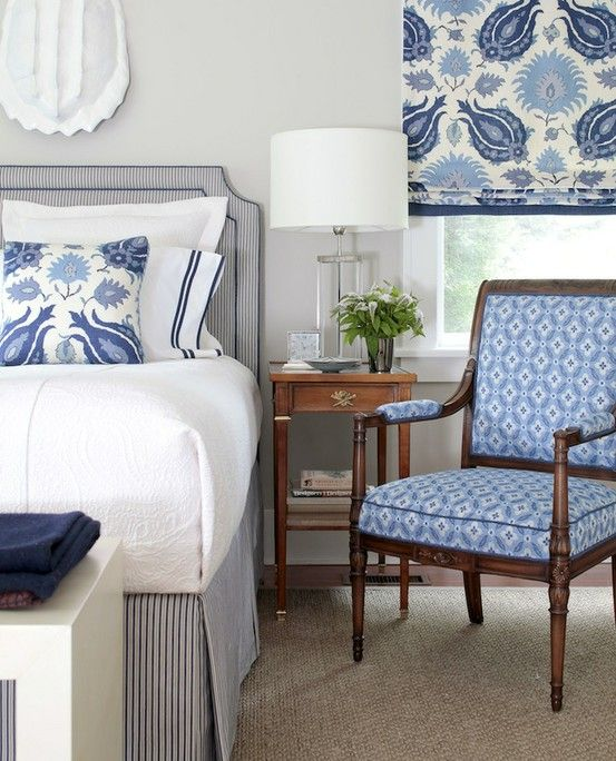Bedroom Pillow Arrangement Bedroom Colour Scheme Bedroom Wallpaper Price Bedroom Decorating Ideas With Pine Furniture: Wonderful Calm Bedroom. The Patterned Fabric Starts The