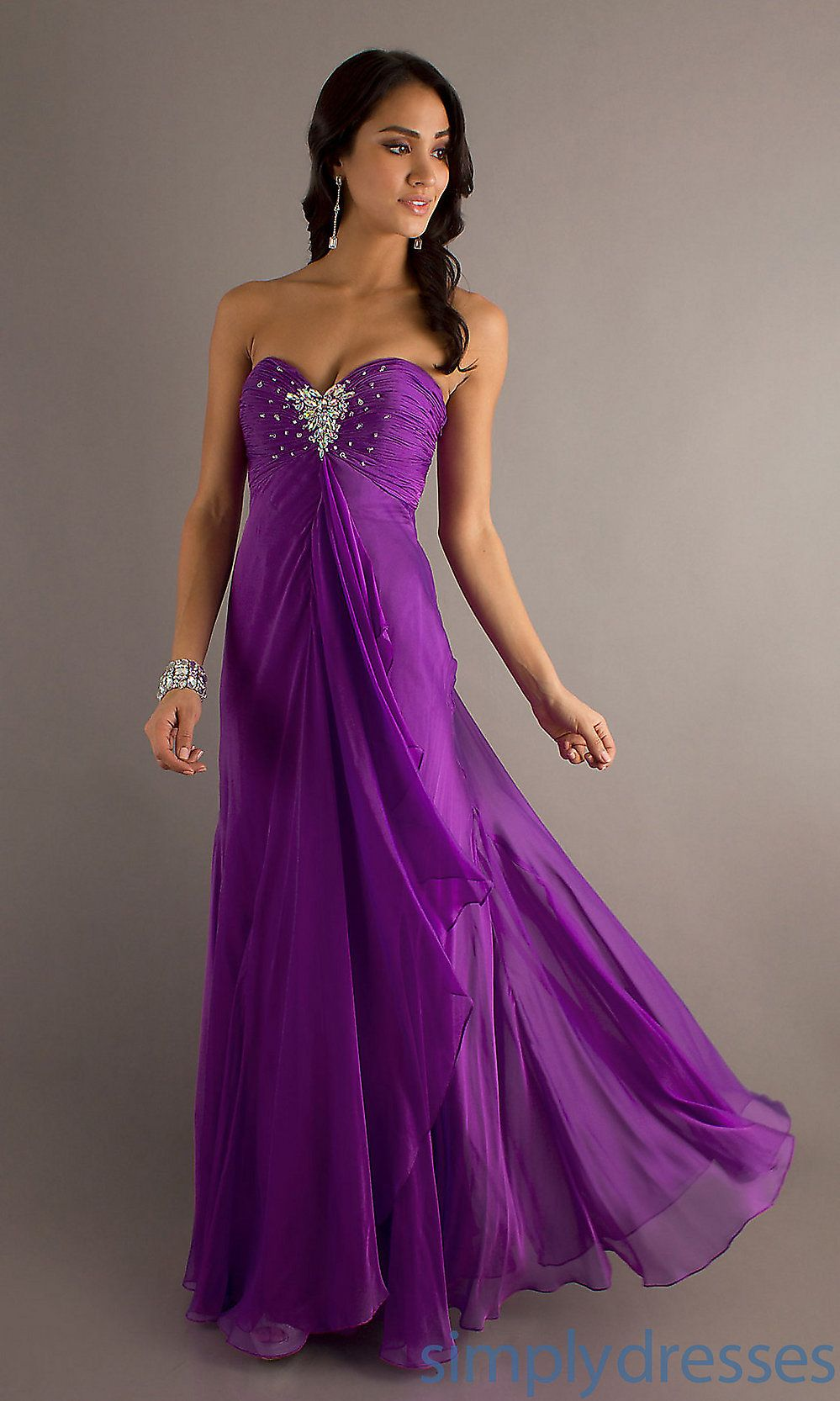 Long Strapless Prom Dress, Strapless Prom Gowns - Simply Dresses