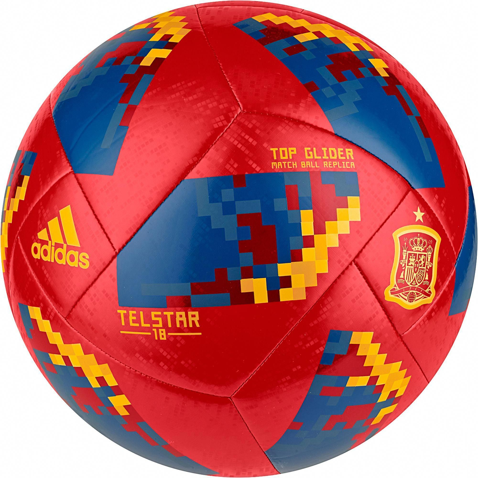 Adidas 2018 Fifa World Cup Russia Spain Supporters Glider Soccer Ball Soccertips Soccer Ball Soccer Ball
