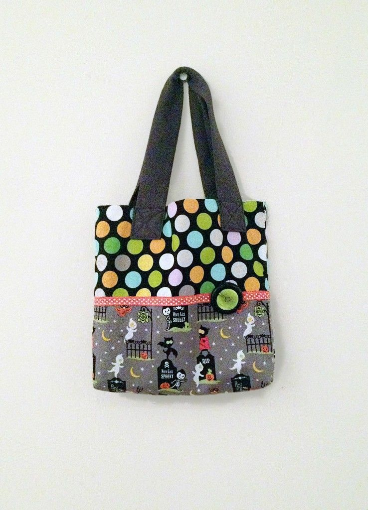 Trick or Treat Halloween Mini Tote Bag, Child Size or