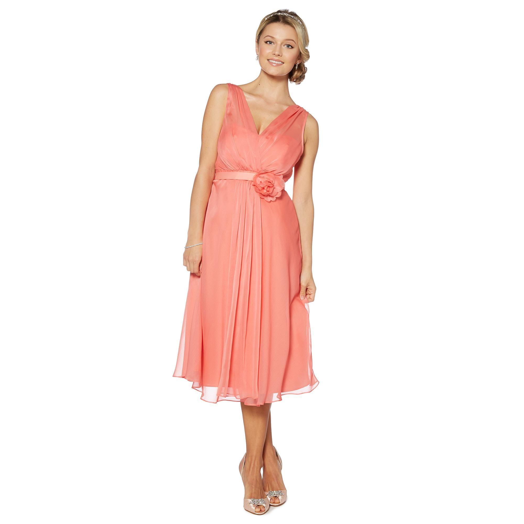 Peach corsage detail midi dress bridesmaid dresses debenhams peach corsage detail midi dress bridesmaid dresses debenhams ombrellifo Gallery