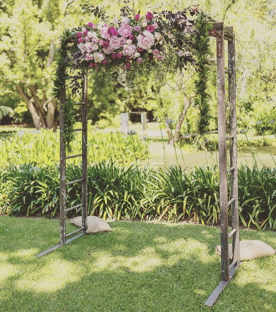 HIRE ONLY - Recycled Timber Ladder Wedding Arch. NSW Hire. Rustic ...