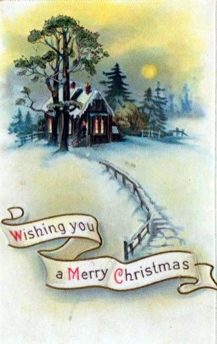 Free vintage christmas cards with snowy cabin junk journals free vintage christmas cards with snowy cabin m4hsunfo