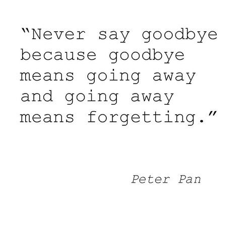 Never Say Goodbye Favorite Quotes Pinterest Quotes Peter