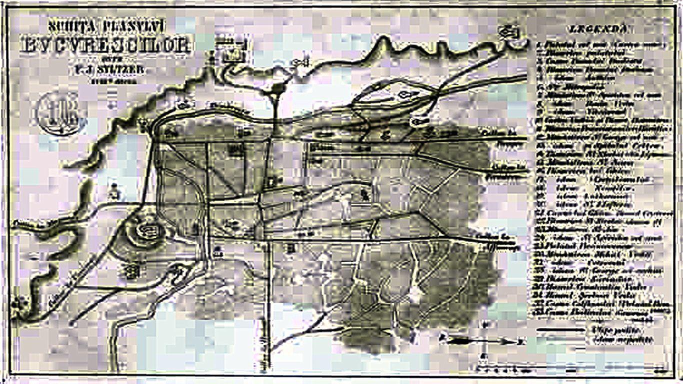 Prima Harta Facuta De F I Sultzer Bucuresti 1781 Mit Bildern