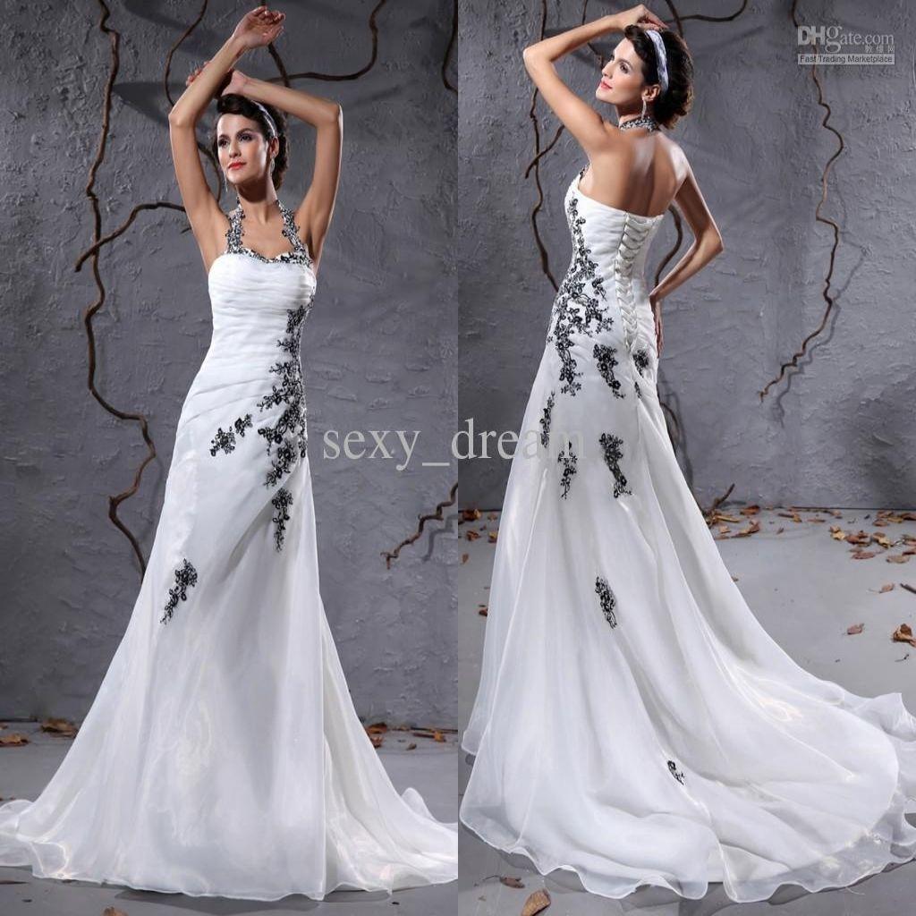 Vestiti Da Sposa Bianco E Nero.Abiti Da Sposa Bianco E Nero Cerca Con Google Vestito Da Sposa