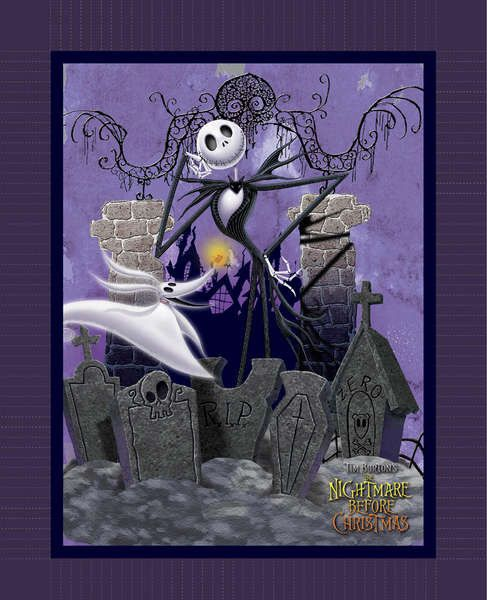 By The Yard Disney Nightmare Before Christmas Panel Cotton