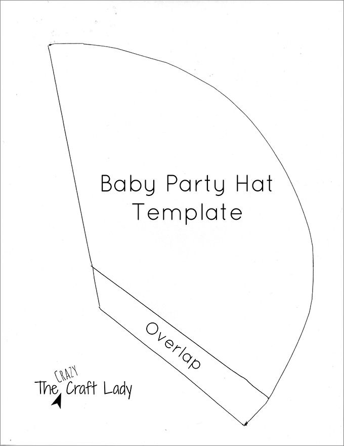 Image result for party cone hat template baby {Baby} Pinterest - party hat template