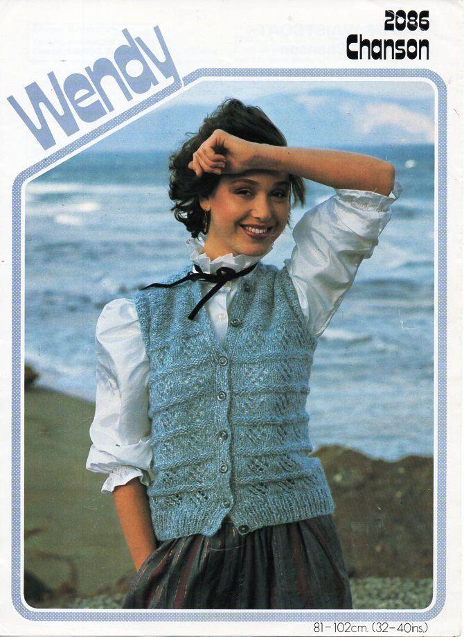 Ladies waistcoat knitting pattern pdf chunky womes sleeveless ...