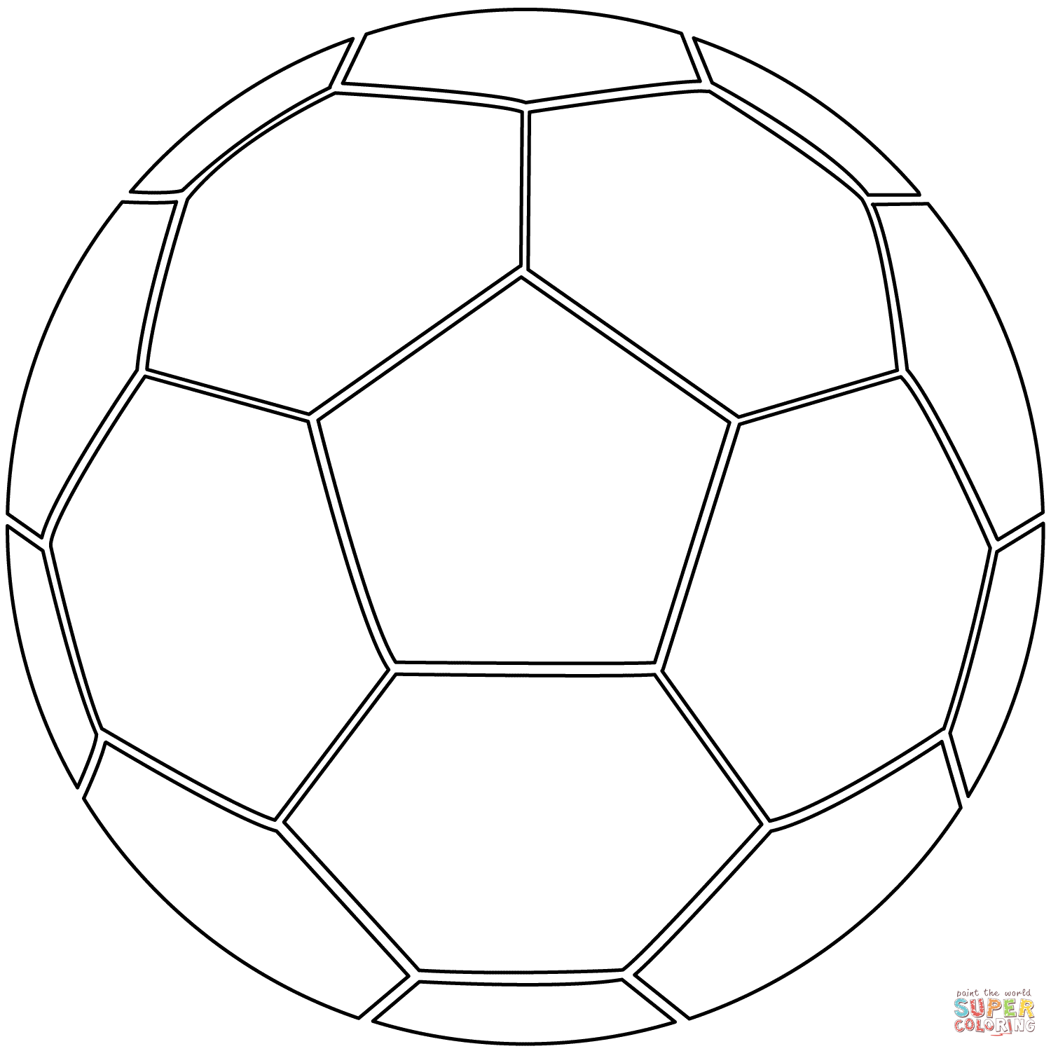 Soccer Ball Coloring Page Free Printable Coloring Pages With