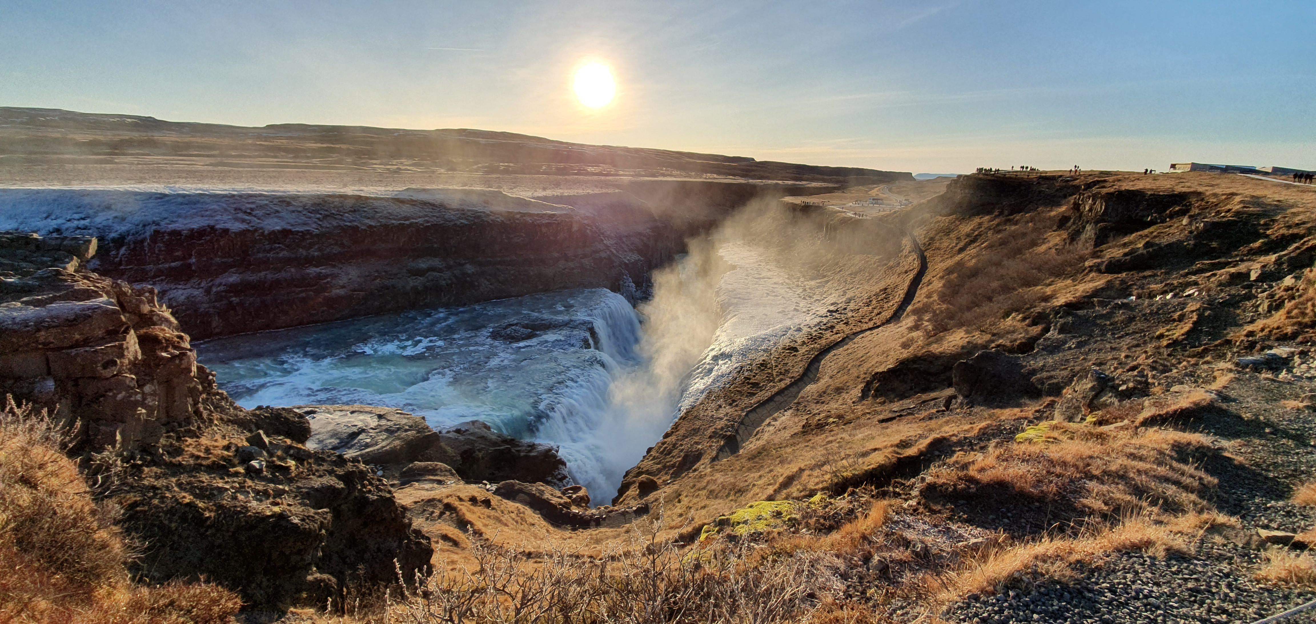 Iceland Gullfos Unedited Oc 4608 X 2184 In 2020 Beautiful Nature Landscape Photographers Landscape Photography