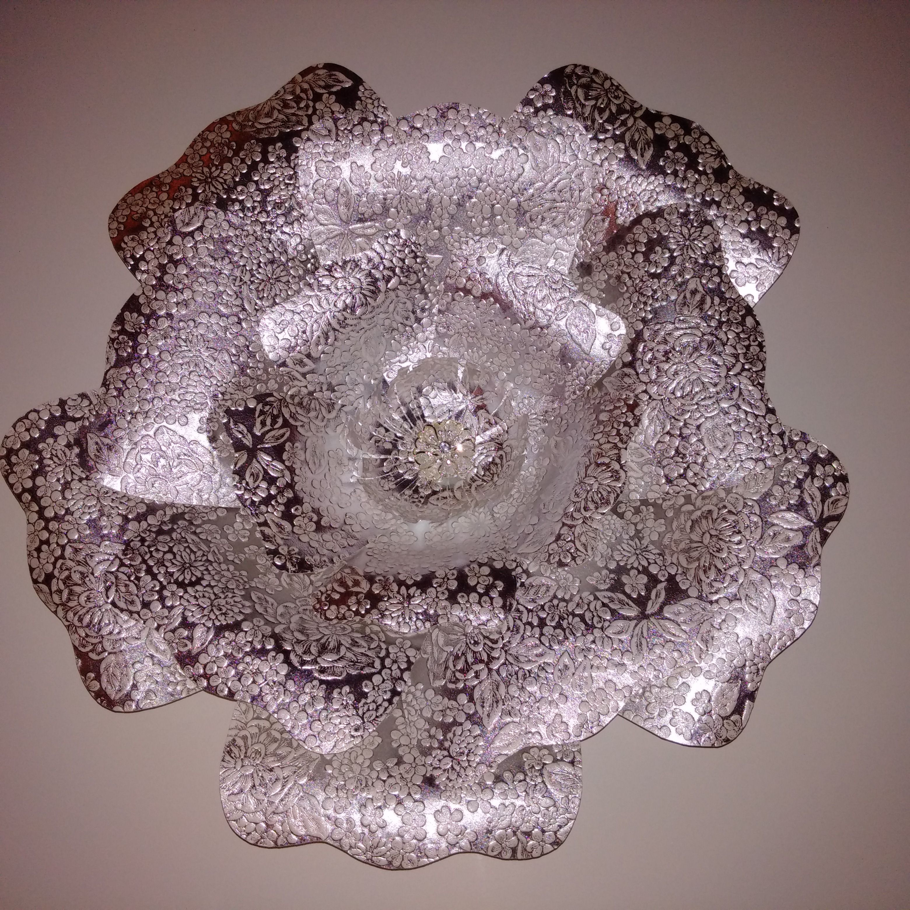Large wall paper flower for wedding or house decor.