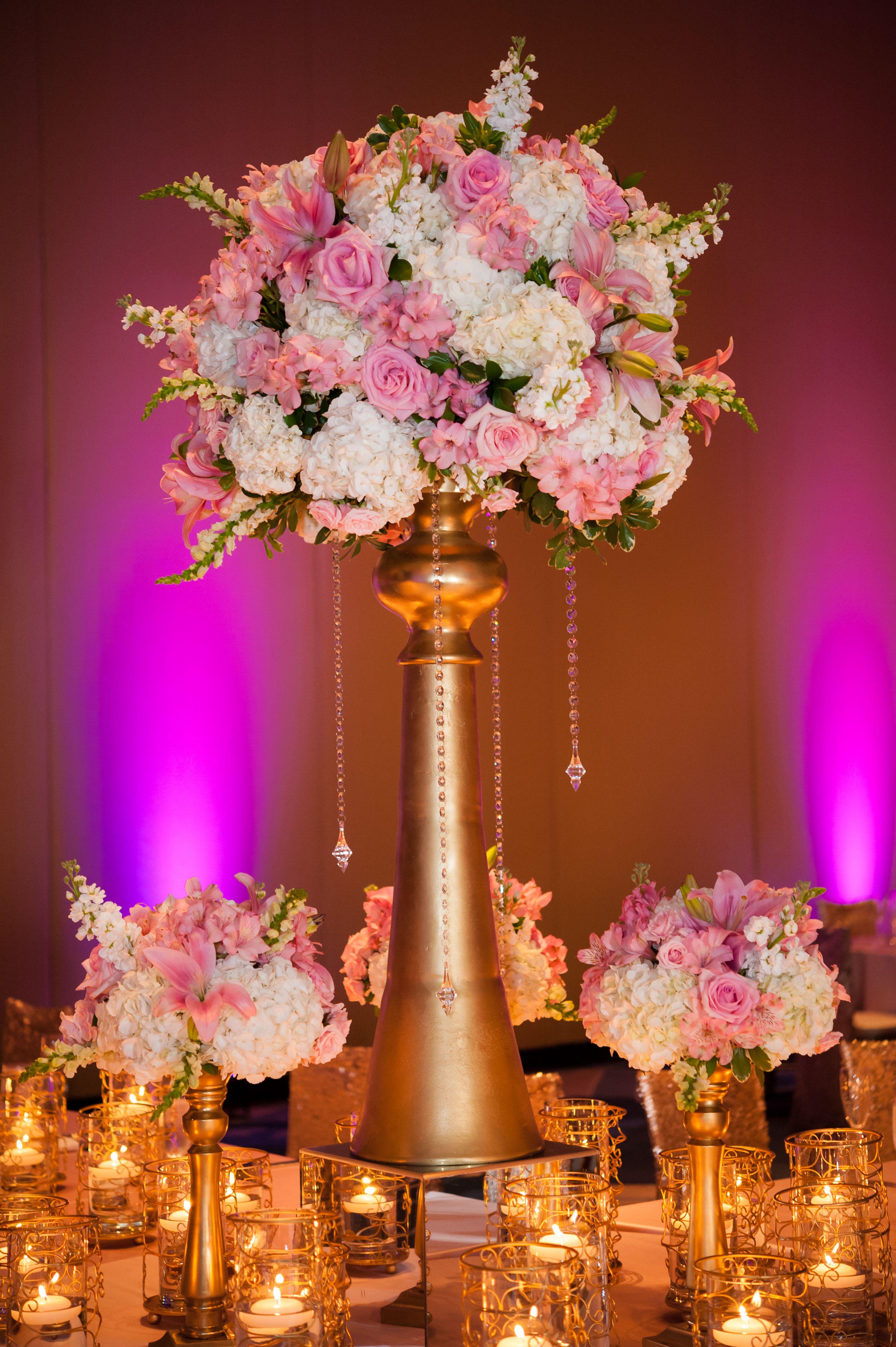 Reception Decor Centerpiece Flower Centerpiece Pink And