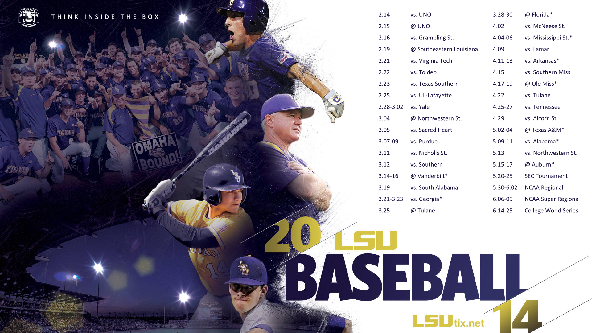 REQUEST 2014 LSU Baseball Schedule Wallpapers/Background