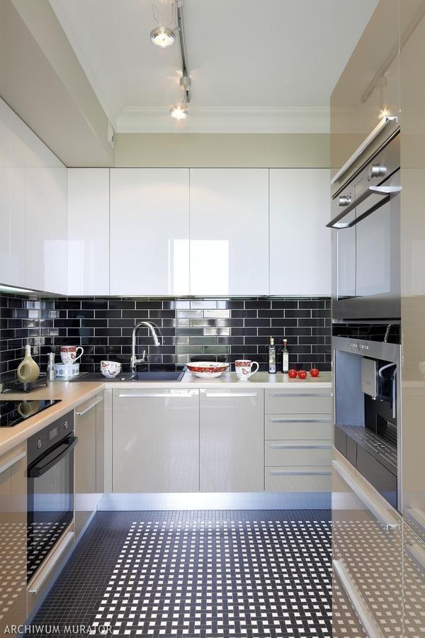 Czarno Białe Płytki Kuchnia Kitchen W 2019 Płytki