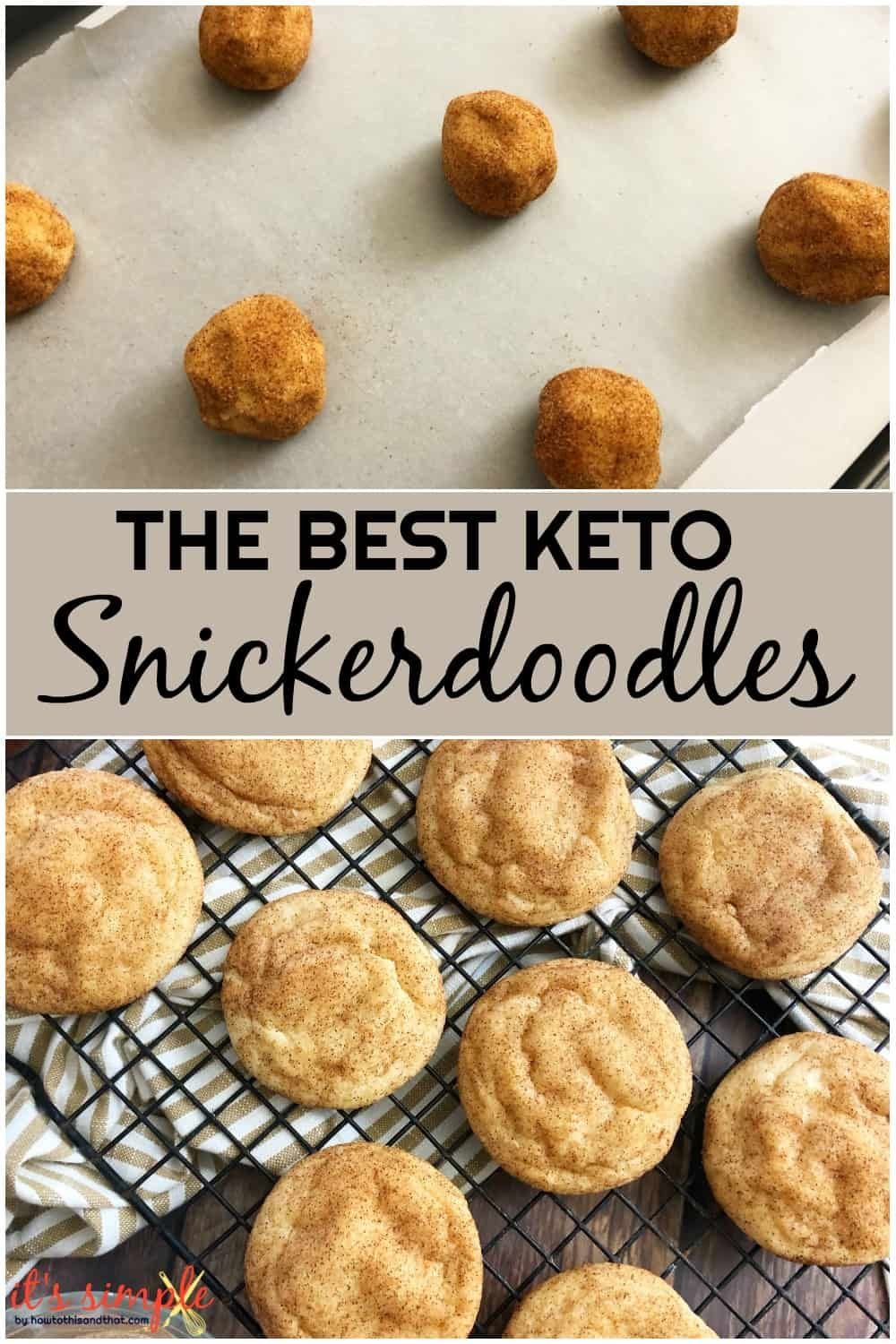 Keto Snickerdoodles Cookie Recipe- ONLY 2 CARBS Pe