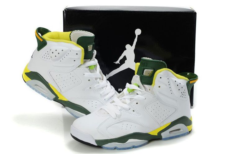 newest collection d7b2d bdb2b Nike Air Jordan Olympic 6 White Army Green and Gold