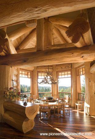 Interiors Pioneer Log Homes Of Bc Rustic Home Interiors Log