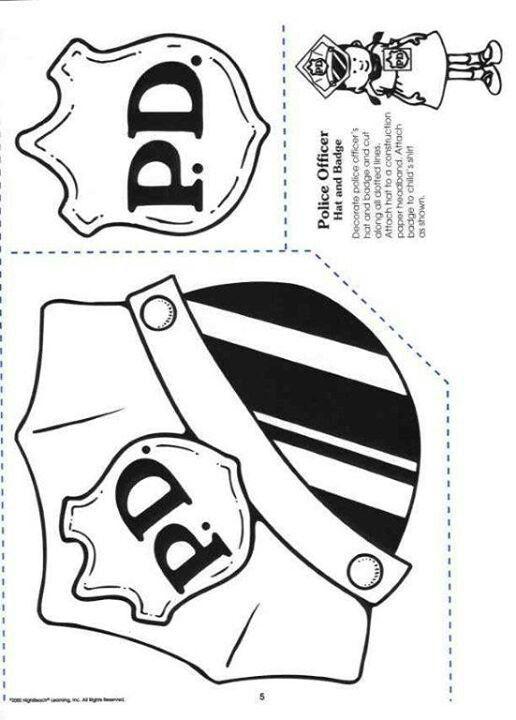 Police officer hat & badge | Police officer | Pinterest | Docentes y ...