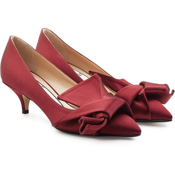 Satin kitten-heel pumps N��21 vcdK93WF0