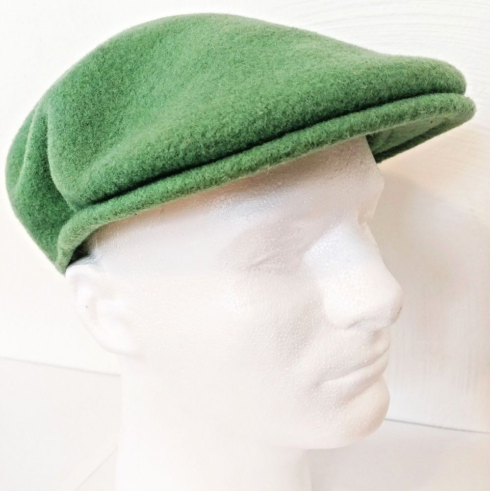 fdf64168890 Kangol Mens Hat Small 100% Wool Green Newsboy Cap Fisherman Style Britain  Design  Kangol  NewsboyCap