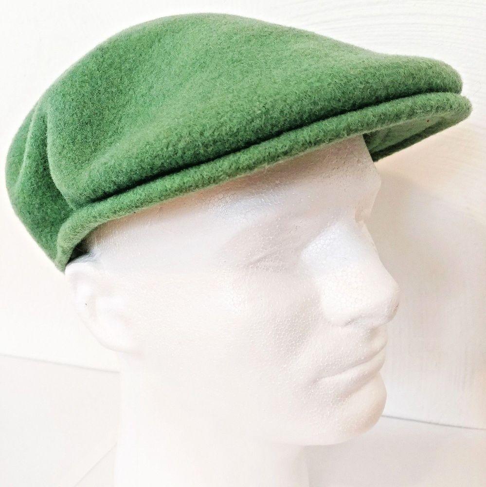 Kangol Mens Hat Small 100% Wool Green Newsboy Cap Fisherman Style Britain  Design  Kangol  NewsboyCap a7969fb6c0c