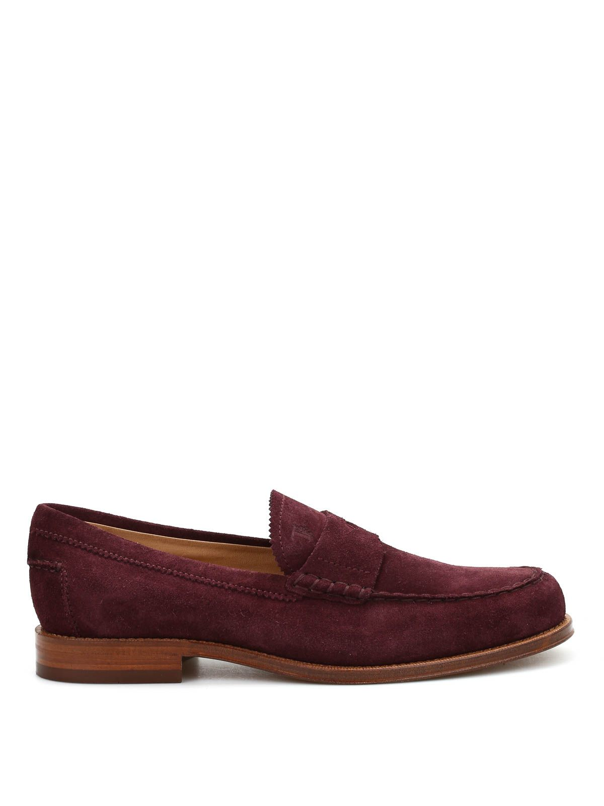 8d2711a5be0 TOD S TOD S MEN S BURGUNDY SUEDE LOAFERS.  tods  shoes