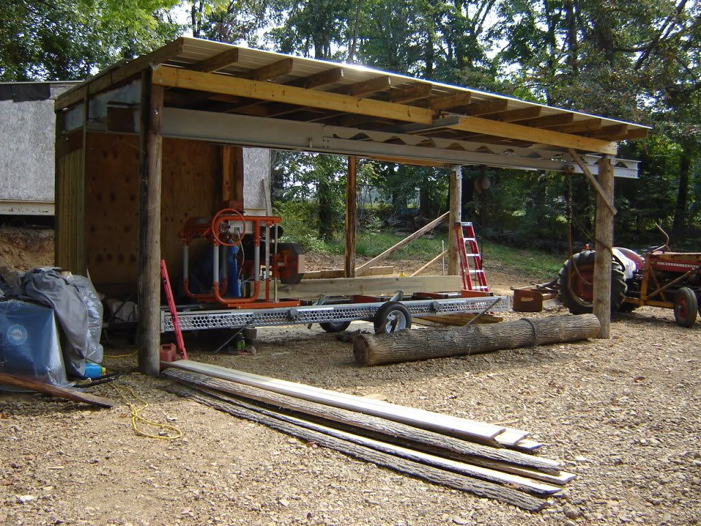 Also building a sawmill shed...   Portable Sawmills ...