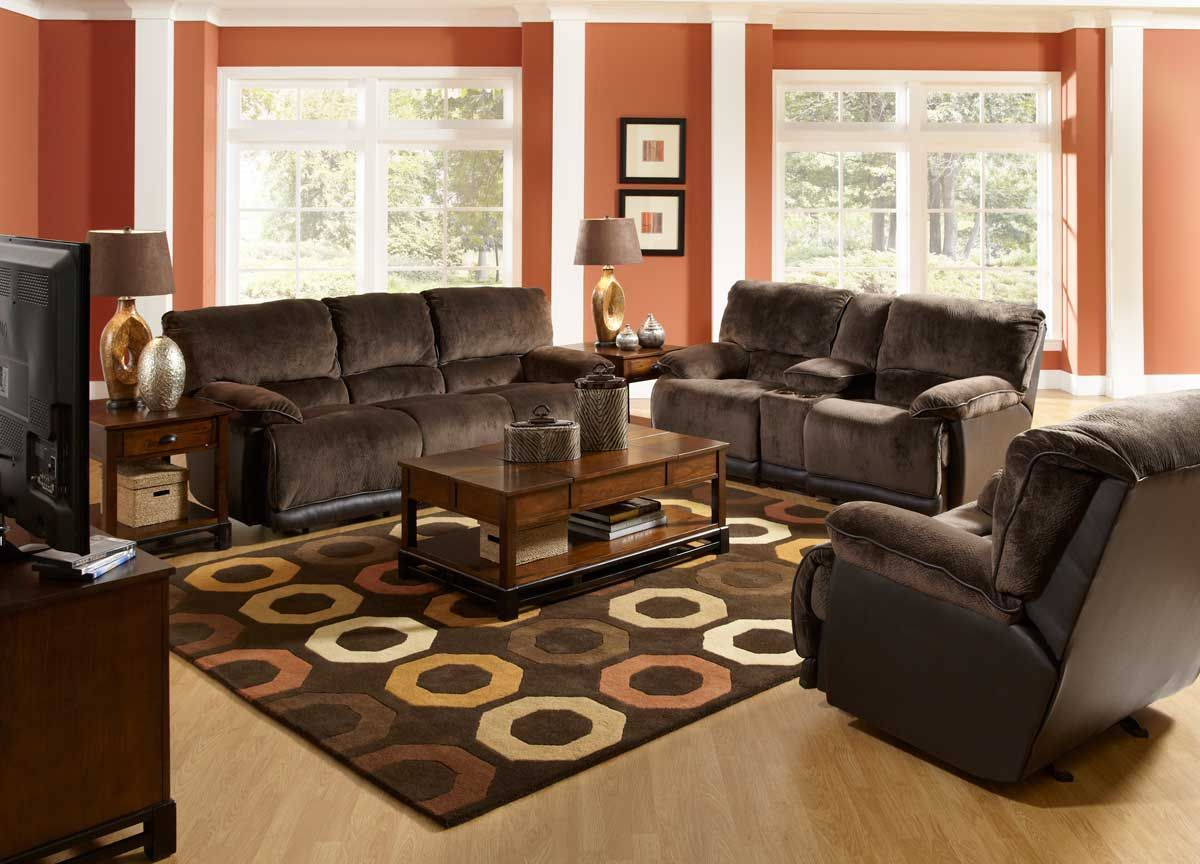 Brown sofa Decorating Living Room Ideas - Modern Interior Paint ...