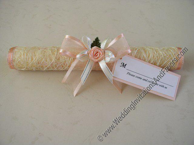 Brilliant Scroll Wedding Invitations