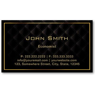 Dark Luxury Gold Border Economist Business Card Zazzle Com Business Cards Online Printing Business Cards Luxury Business Cards