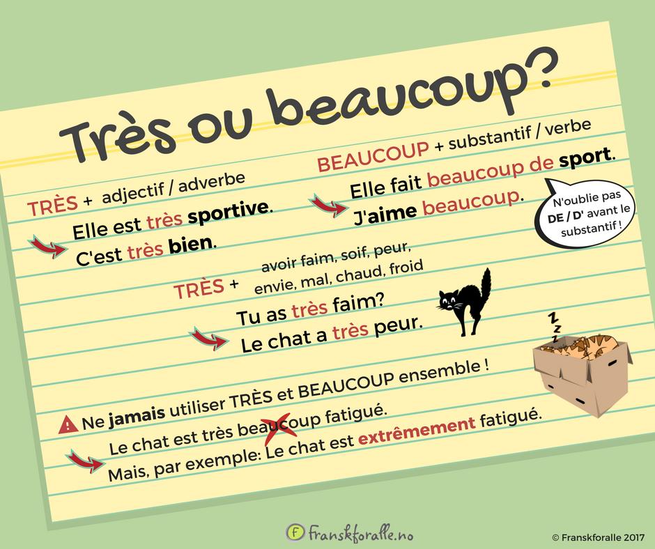 Pytanie o język #7 - Beaucoup czy très? - słownictwo 1 - Francuski przy kawie