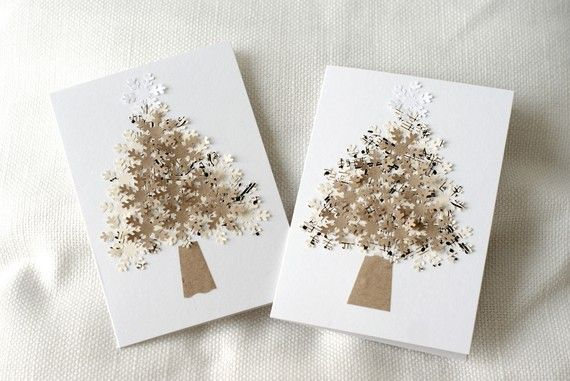 limited edition set of 2 Christmas eco friendly card  envelope sets