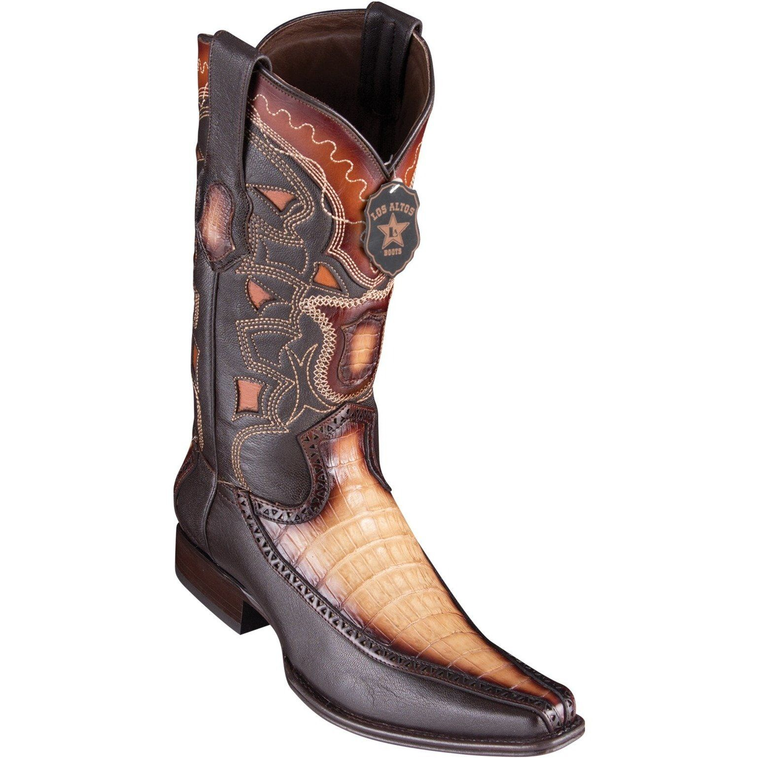 f37028846e1 Men's Los Altos Caiman Belly Boots With Deer European Square Toe ...