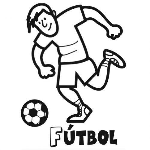 Dibujo de fútbol para colorear | Esports | Pinterest | Soccer ...