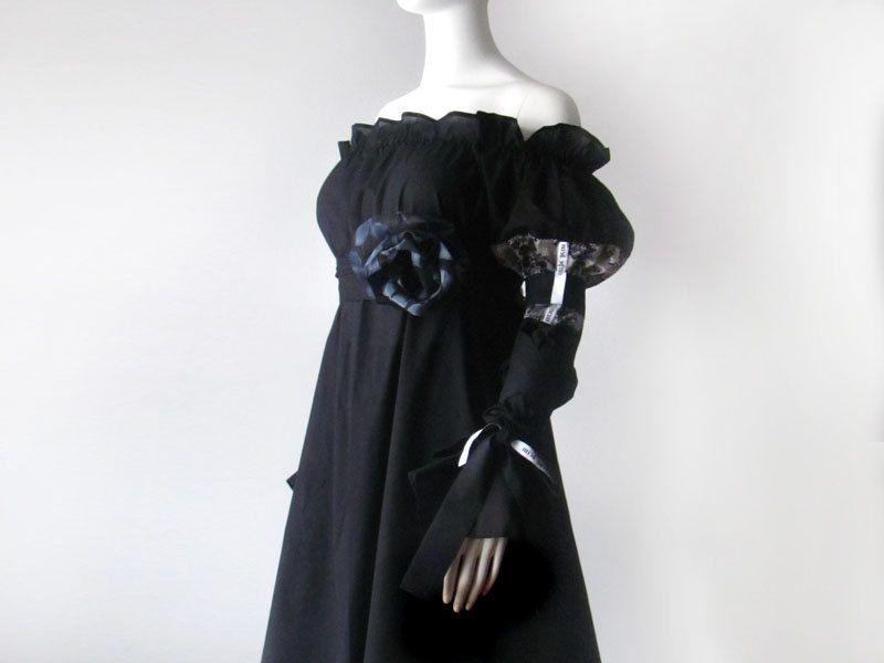 Steampunk Clothes Black Renaissance Dress Peasant Pirate Vampire